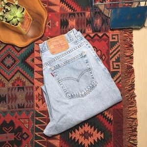 Vintage Levi's 550 high waist mom jeans light wash